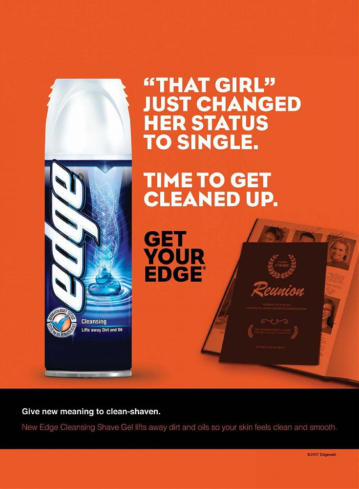 Edge Advanced Shave Gel- oz Sensitive Skinwith Aloe edge® ADVANCED shave gel gives you the most comfortable, refreshing shave you can get.